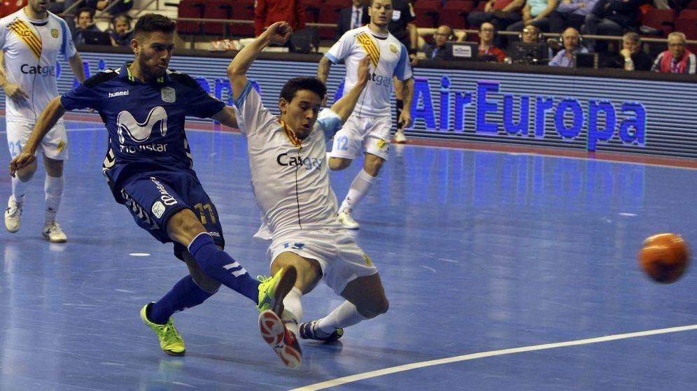 Foto: El Movistar Inter ganó 6-5 al Catgas Energía y se metió en semifinales de la Copa de España de fútbol sala (Mariano Cieza Moreno/EFE)