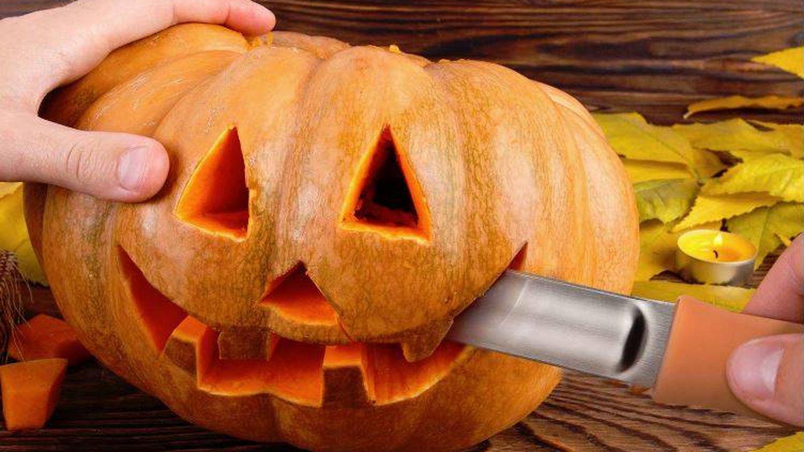 Decoración Para Una Fiesta De Halloween Trucos Con Calabazas