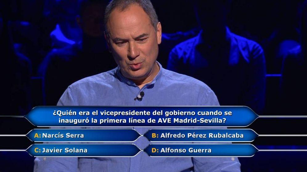 Foto: Erundino, en '¿Quién quiere ser millonario?'. (Antena 3)