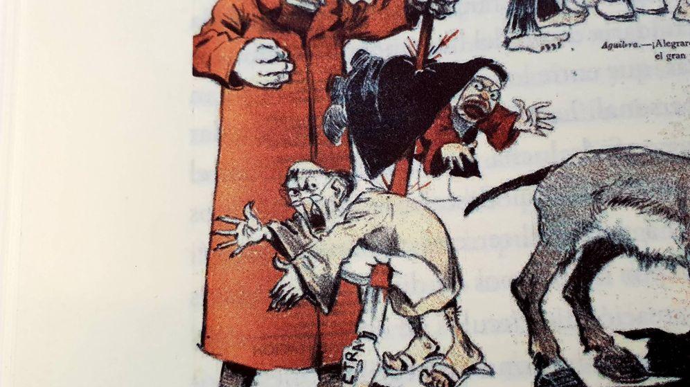Foto: Caricatura de Galdós publicada en 1902