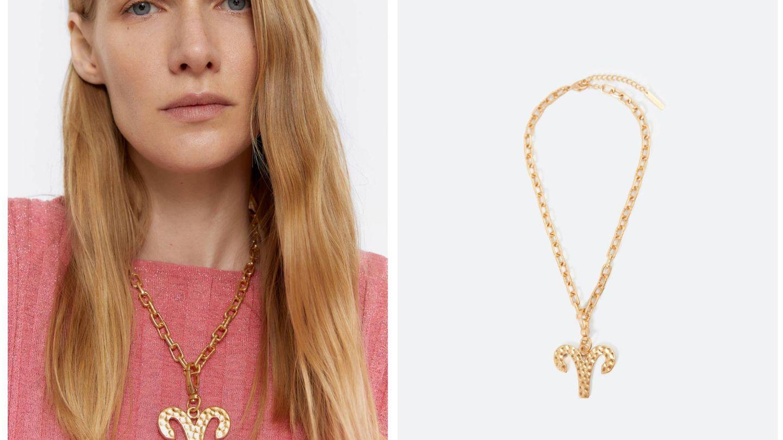 El collar de Aries de Uterqüe. (Cortesía)