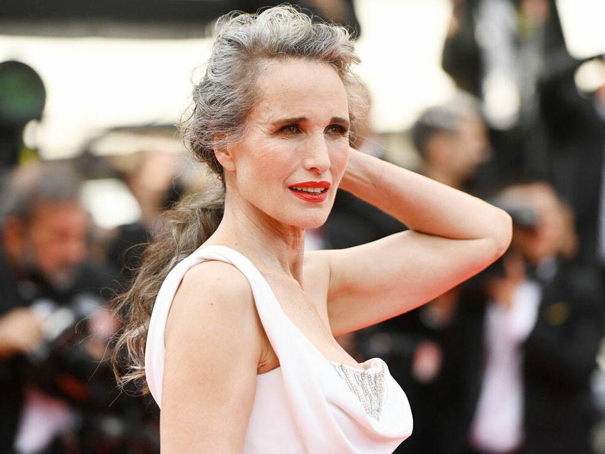 Foto: El espectacular posado de Andie MacDowell en el Festival de Cine de Cannes. (Getty)