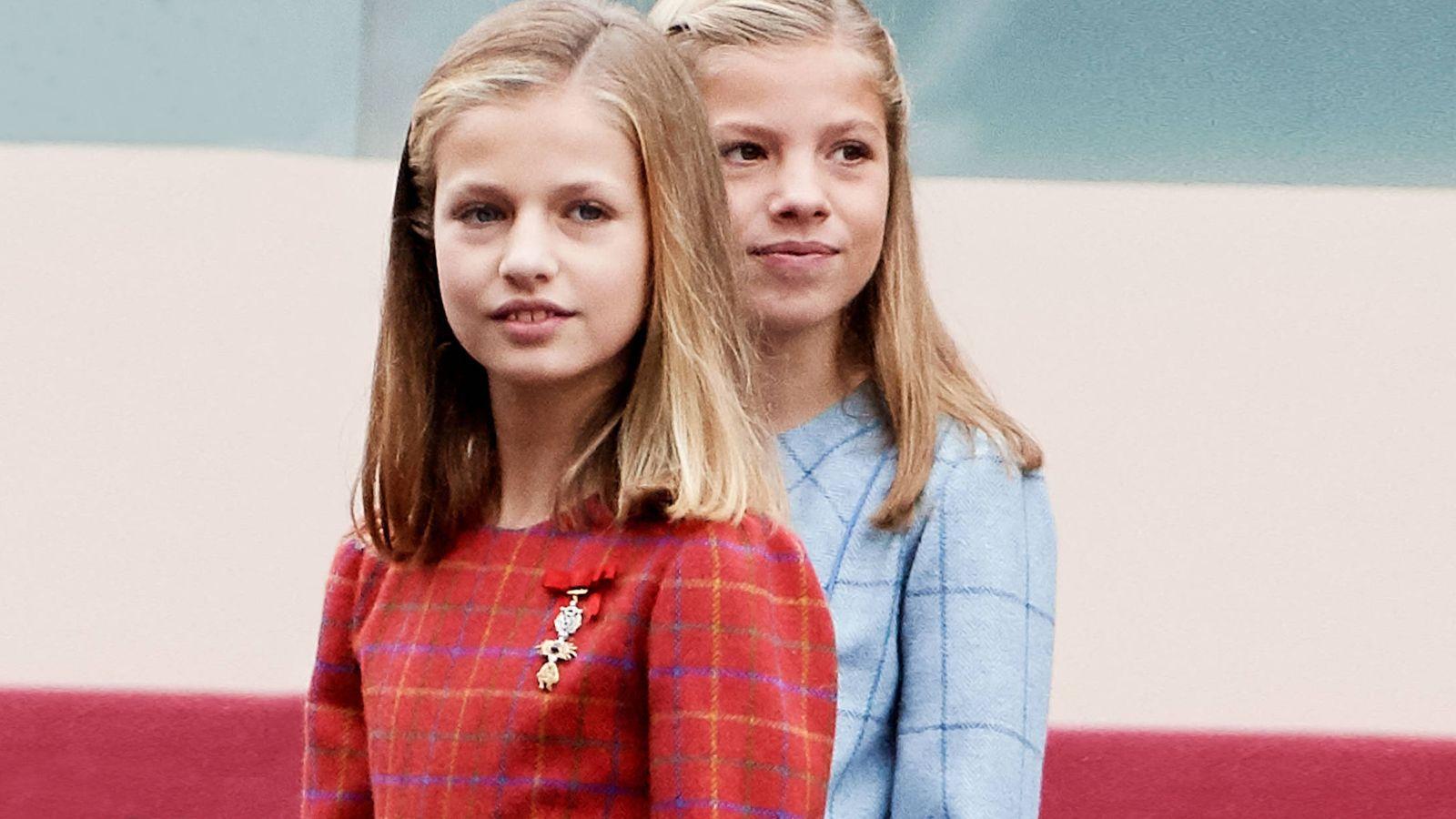 Foto: La Princesa de Asturias y la infanta Sofía. (Getty Images)