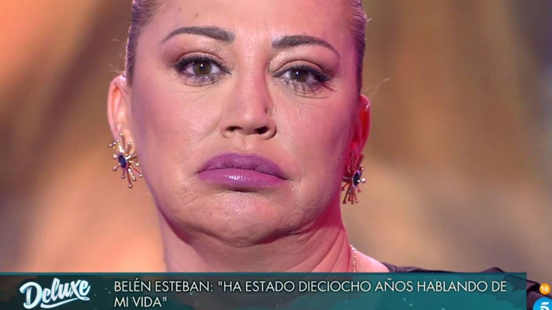 Belén Esteban, en 'Sábado Deluxe'. (Telecinco).