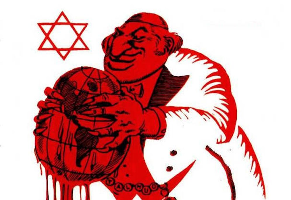 Foto: Caricatura antisemita.