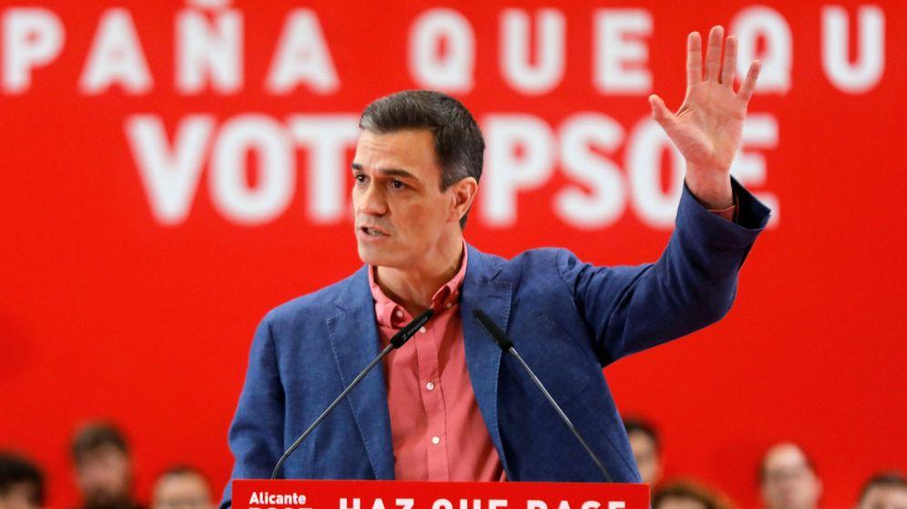 Foto: Pedro Sánchez, durante un acto del PSOE en Alicante. (EFE)