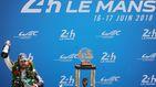 ¡Unas palabras del capitán!. Alonso y su celebración tras ganar Le Mans