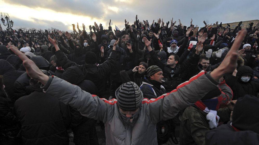 Foto: Ultras del Spartak de Moscú. (EFE)