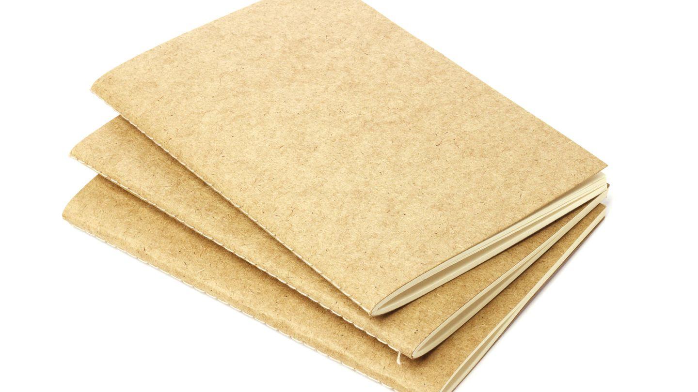 Libretas de papel reciclado. (IStock)