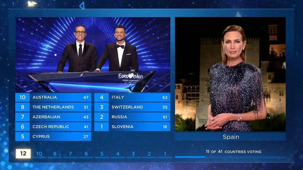 Foto: Nieves Álvarez, desde Granada (España) en 'Eurovisión 2019'. (RTVE)