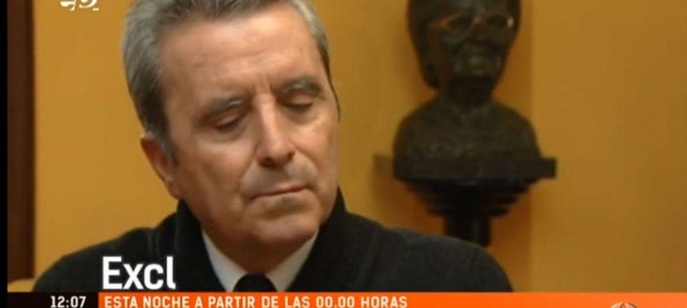 Foto: Imagen de José Ortega Cano durante su entrevista en Antena 3