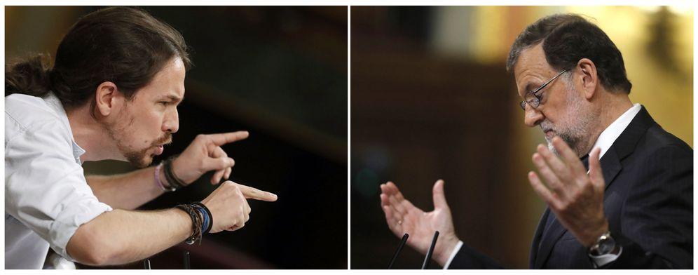 Foto: Pablo Iglesias y Mariano Rajoy. (EFE)