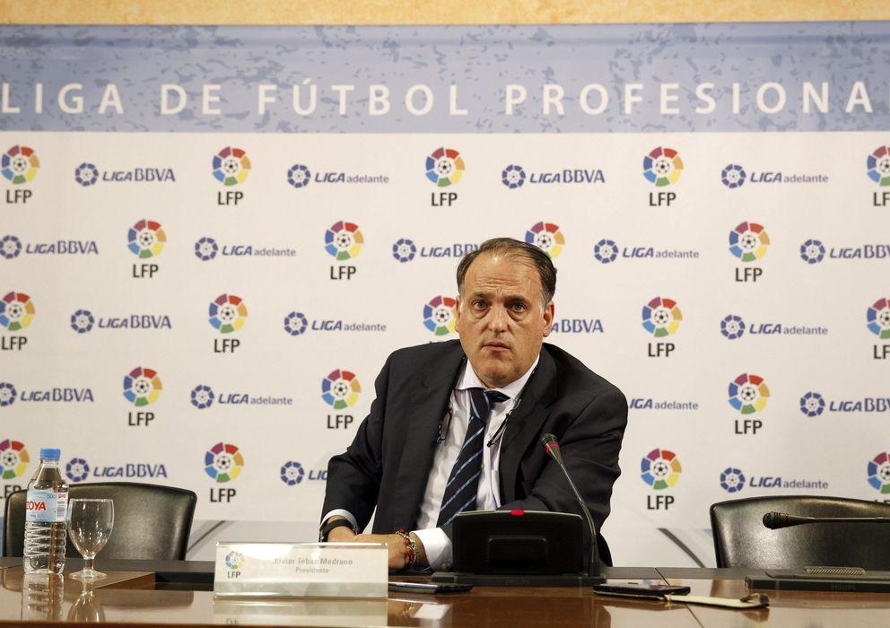 Foto: Javier Tebas, durante una rueda de prensa (EFE)