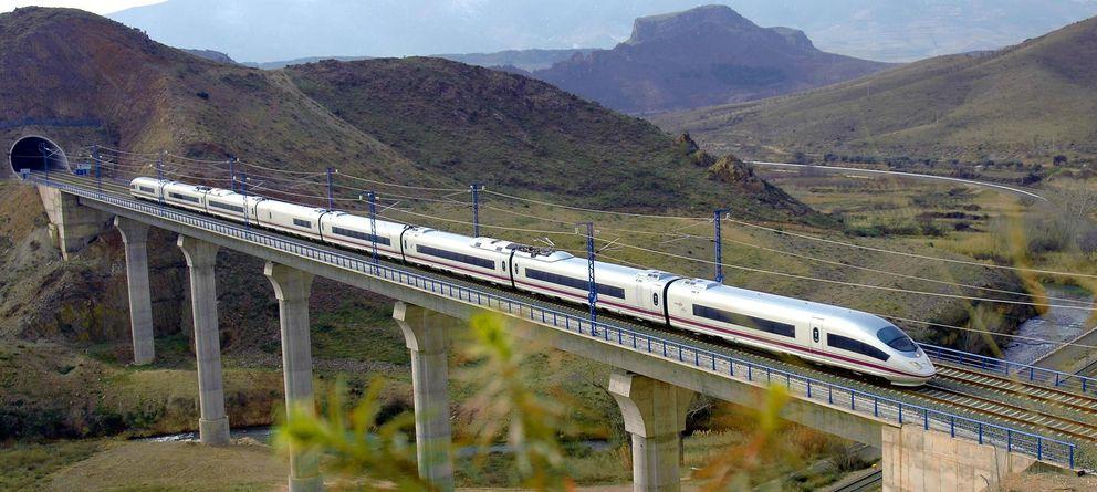 Foto: Un tren de alta velocidad español.