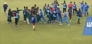 Post de La final del mundial juvenil de cricket termina en medio de una batalla campal