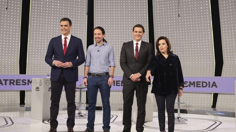 Debate a cuatro: los candidatos hostigan a Santamaría por la corrupción