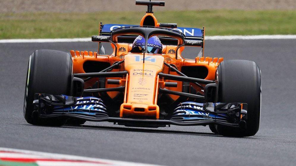 Foto: Fernando Alonso durante los primeros entrenamientos libres de Japón (Twitter: @McLarenF1)