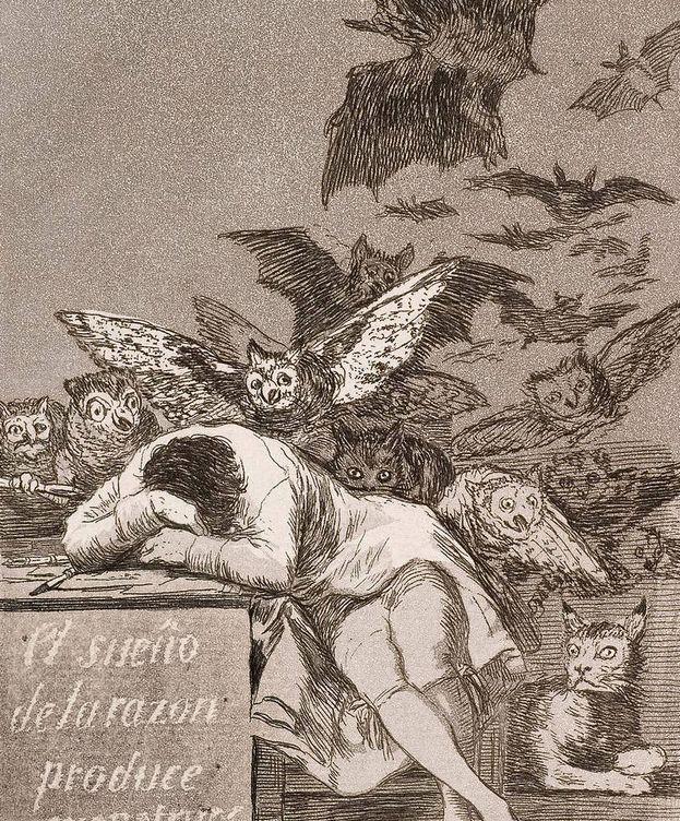 Foto: 'El sueño de la razón produce monstruos'. (Francisco de Goya)