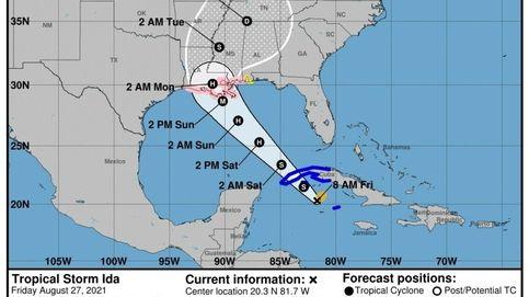 El golfo de EEUU se prepara para la llegada del huracán 'Ida', uno de los más peligrosos del año