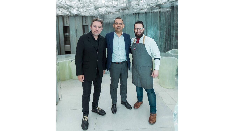 Foto: Albert Adrià, Javier Pijoan y Marc Álvarez, artífices de esta nueva aventura gastronómica.