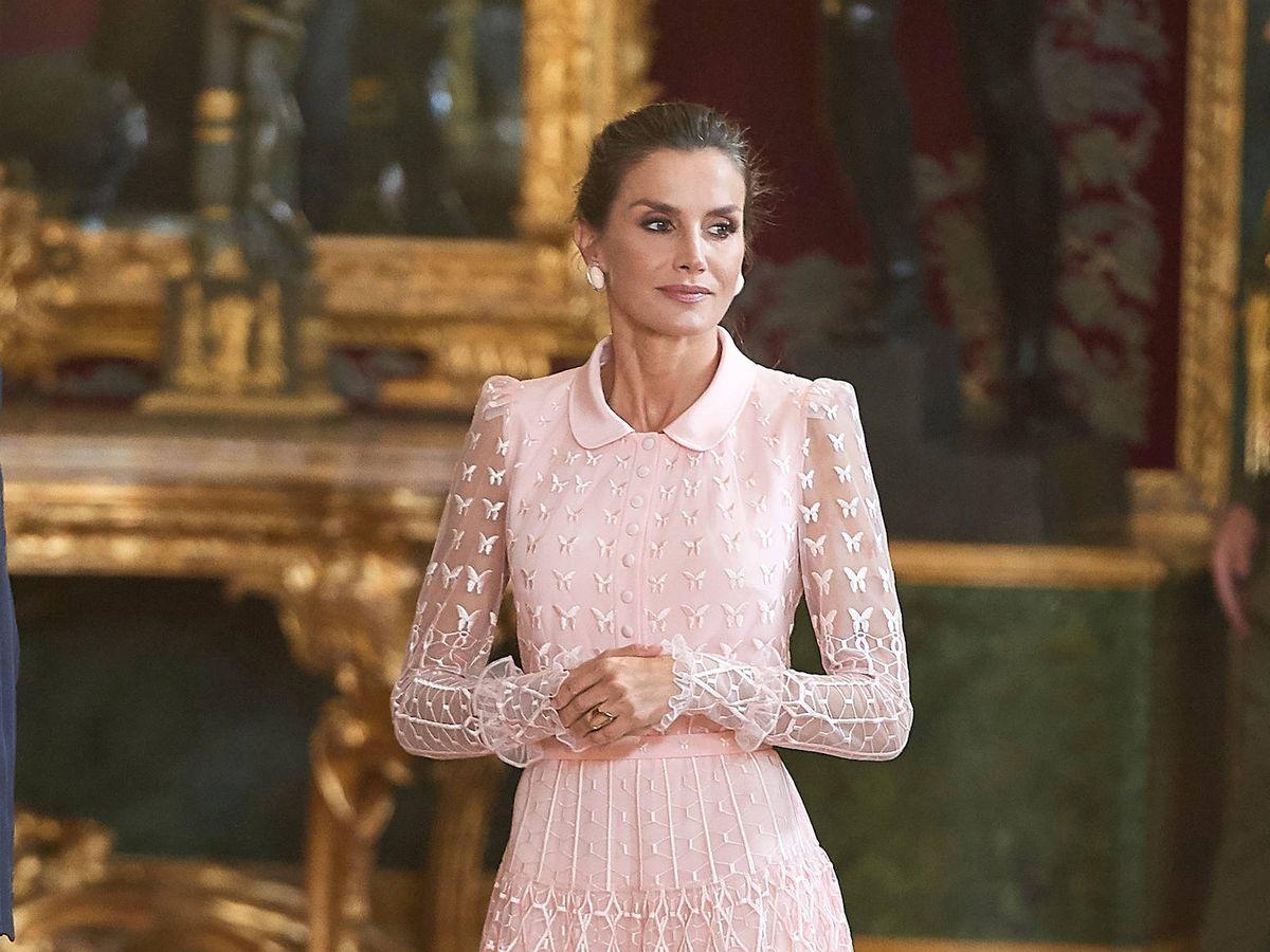 Foto: La reina Letizia, en el Día de la Hispandad de 2019. (LP)