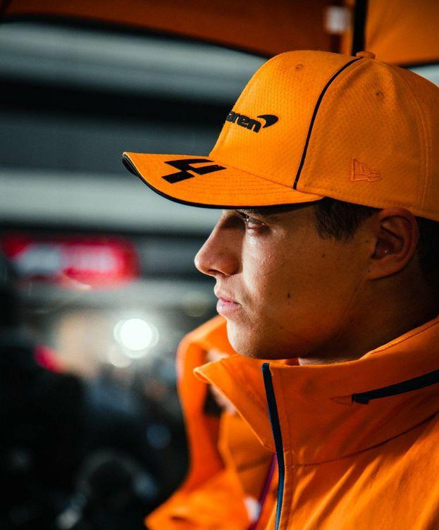 Foto: Lando Norris, abatido tras el GP de Rusia. (McLaren)