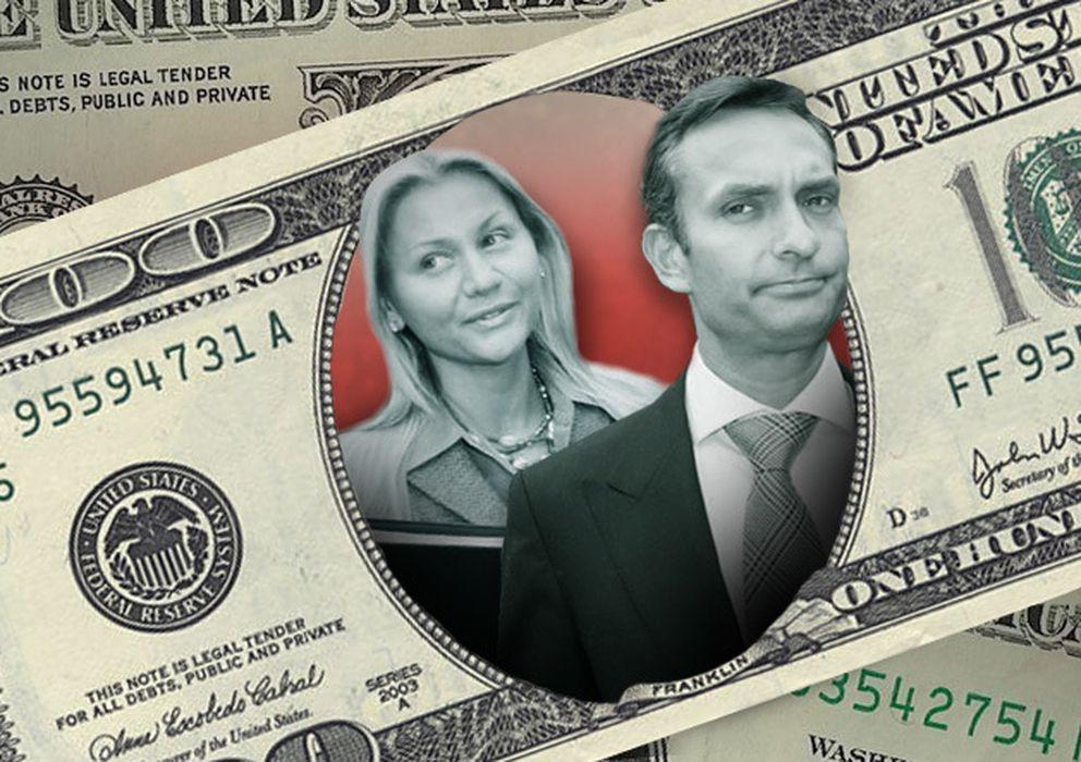 Foto: Montaje de Sage Kelly, CEO del banco de inversiones Jefferies Group LLC, y su mujer Christina Di Mauro (Vanitatis)
