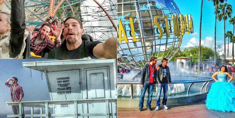 Foto: Las intrépidas aventuras de Dani Rovira y Adrián Lastra en Los Ángeles
