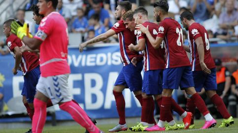 Simeone sigue haciendo pruebas en el Atleti y el equipo se impone al Oviedo