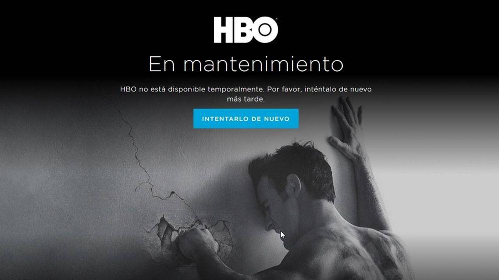Foto: Imagen que ven los usuarios de HBO España