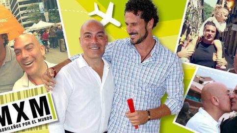 Kike Sarasola, su marido y su hija se montan su 'Madrileños por el mundo'