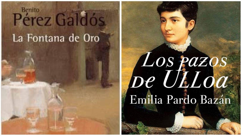'La fontana de oro' de Galdós y 'Los pazos de Ulloa' de Pardo Bazán. (Alianza Editorial / Black Editions)