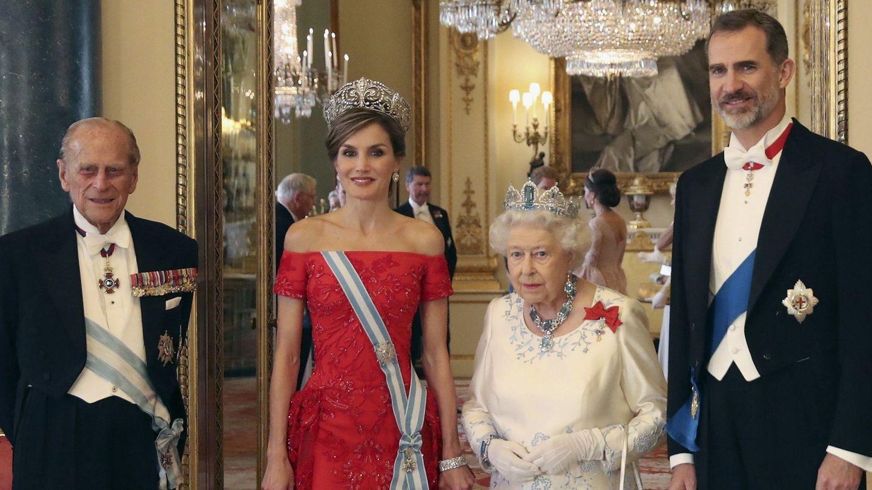 Los reyes Felipe y Letizia, durante la visita de Estado a Reino Unido. (EFE)