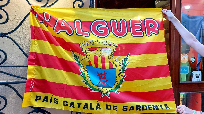 Imagen de una bandera catalanista en Alguer. JB