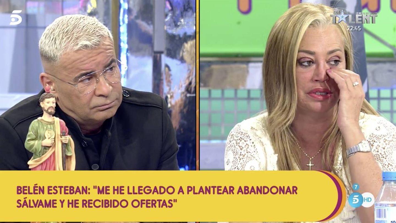 Jorge Javier y Belén Esteban, en 'Sálvame'. (Telecinco)