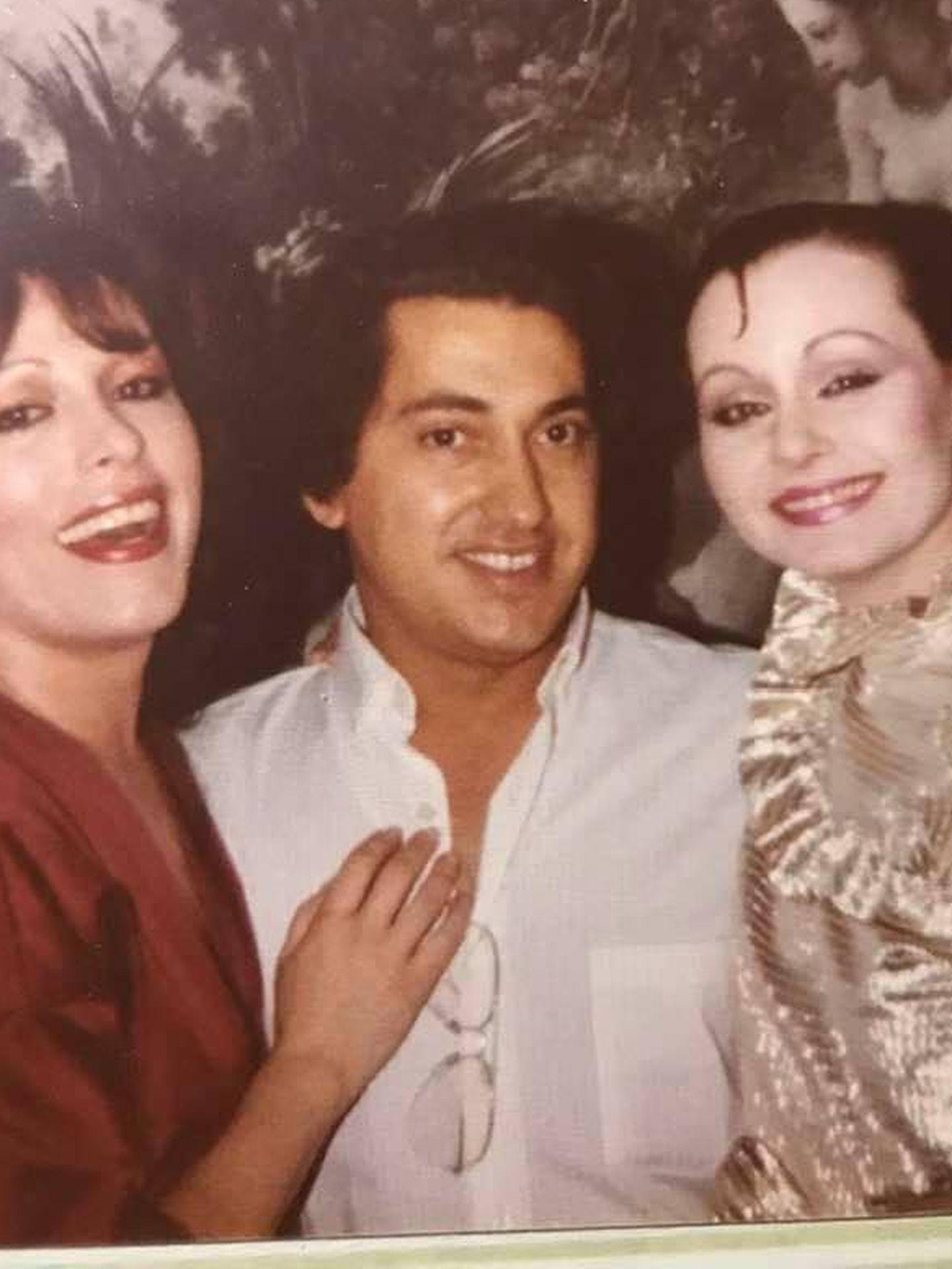 Con Massiel y Rocío Dúrcal. (Cortesía)