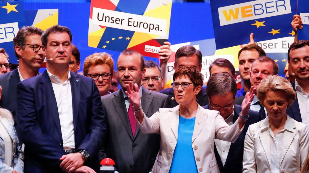 Foto: Campaña de la CDU para las elecciones europeas. (Reuters)