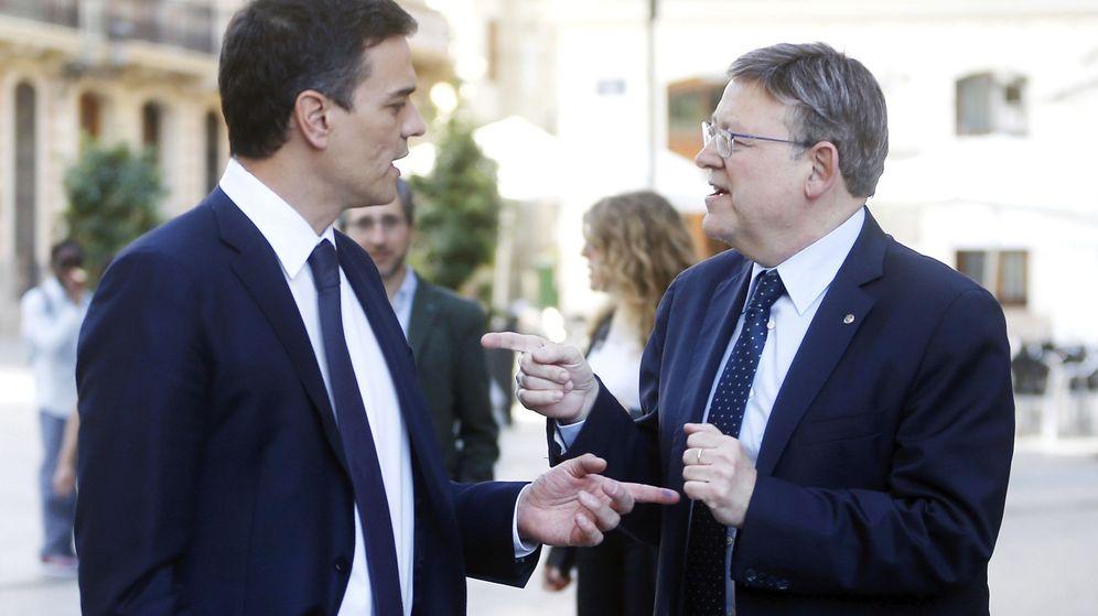 Foto: Sánchez y Ximo Puig, cuya relación es fría y distante. (EFE)