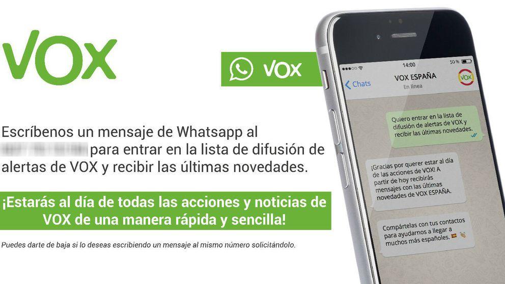 El arma secreta de Vox en la red: así cazó votos por WhatsApp en su campaña electoral