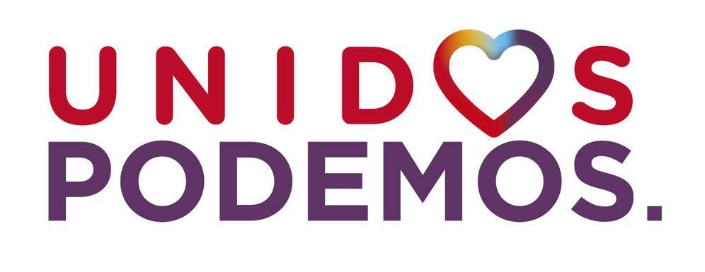 Foto: El logo conjunto de la coalición Unidos Podemos para las elecciones del 26-J.
