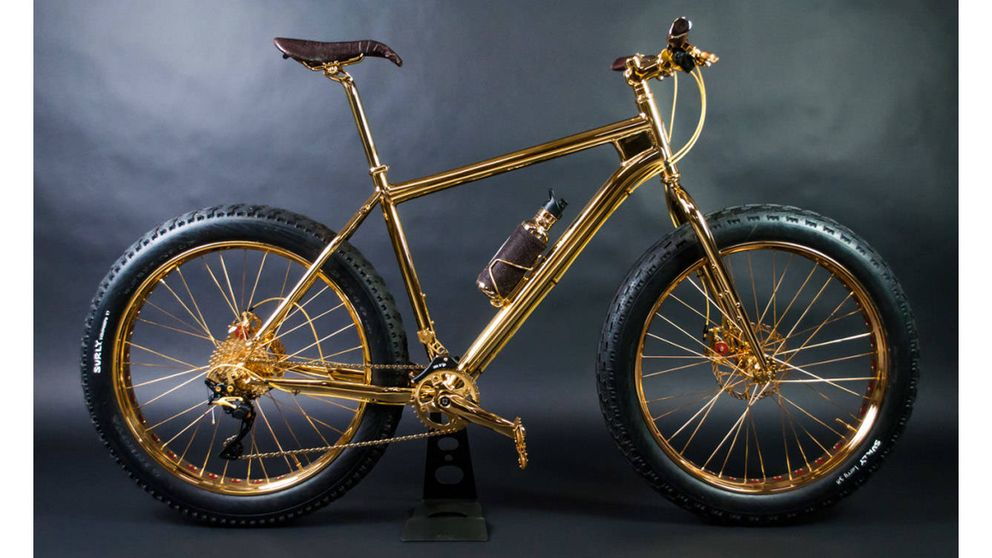 La bicicleta más cara del mundo: bañada en oro y en diamantes