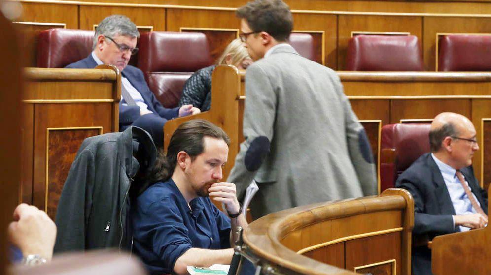 Foto: Pablo Iglesias e Íñigo Errejón en el Congreso. (EFE)