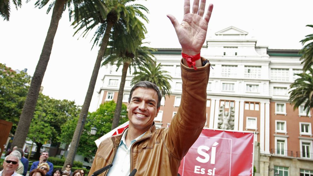 Foto: Acto de campaña de Pedro Sánchez en A Coruña. (EFE)