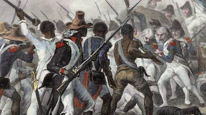 Otra pintura que conmemora la revolución haitiana.