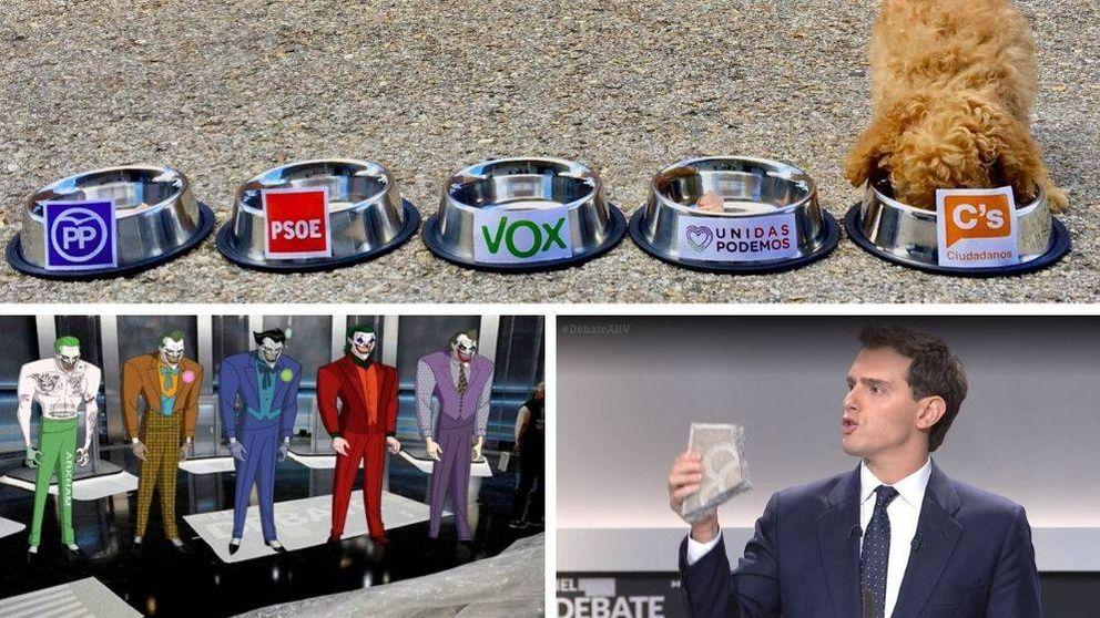 Del adoquín de Rivera al lapsus de Iglesias: las reacciones en las redes al debate del 10-N