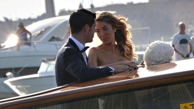 Álvaro Morata y Alice Campello durante su boda en Venecia, en 2017. (EFE)