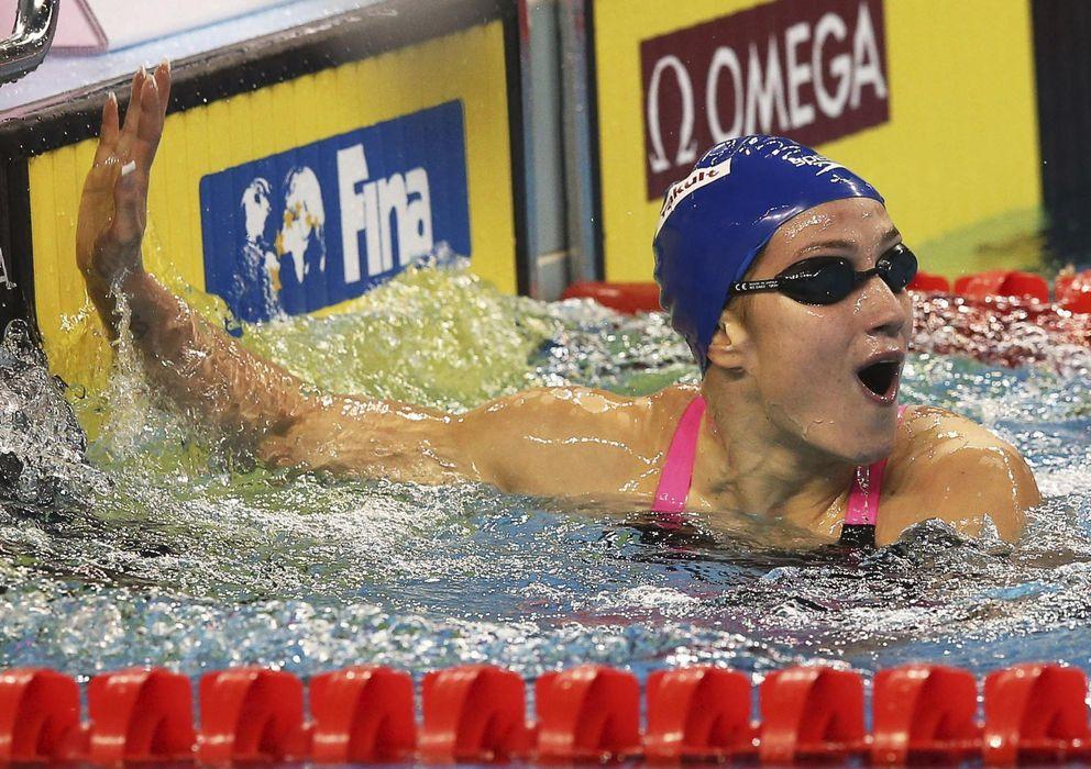 Foto: Mireia Belmonte, en el Mundial de Doha (Efe).