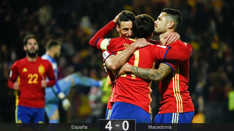 La España de Lopetegui también golea cuando no juega bien