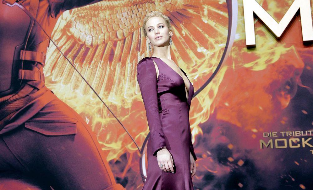 Foto: Jennifer Lawrence durante la promoción de 'Los juegos del hambre'. (Gtres)