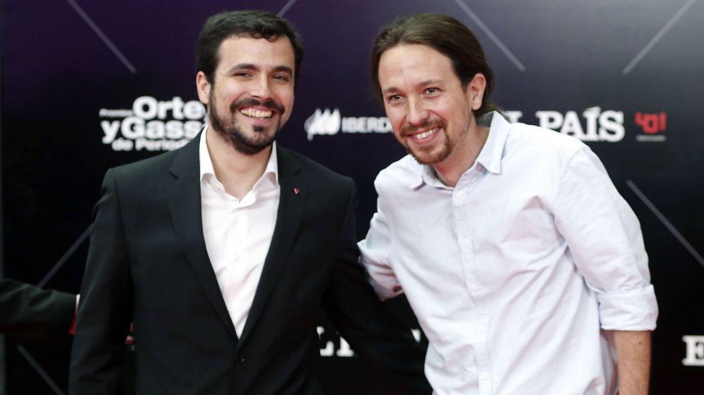 Foto: Garzón e Iglesias se reparten puestos en unas negociaciones sin transparencia. (EFE)